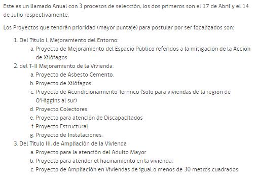 proyectos programa mejoramiento de la vivienda