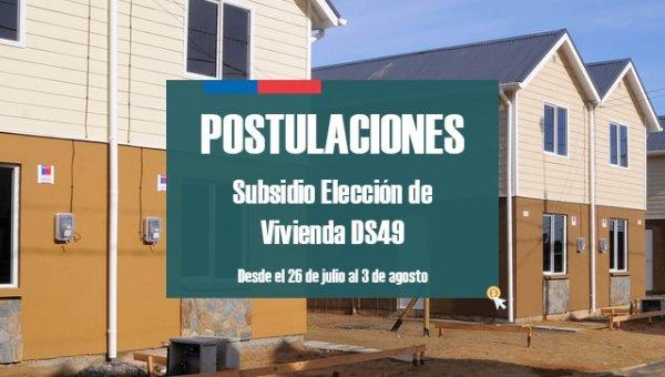 Postulaciones Subsidio Vivienda DS49 2017