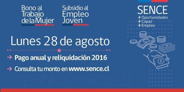 SENCE pago anual 28 septiembre 2017
