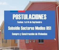 Inician postulaciones hasta el 14 de septiembre Subsidio DS1 Sectores Medios