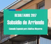 Resultados 2017 Subsidio de Arriendo para Adultos Mayores