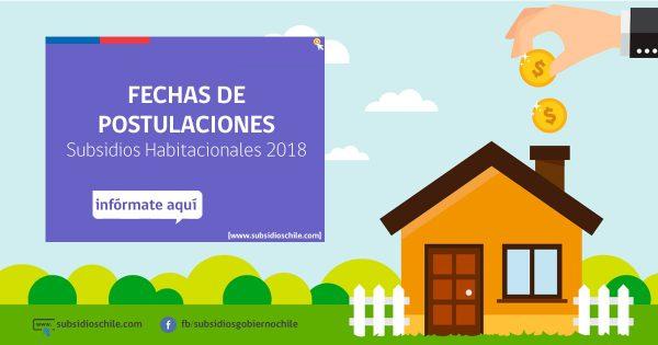 Fechas Postulaciones Subsidios Habitacionales