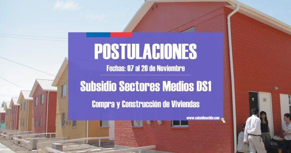 subsidio ds1 postulación 2018