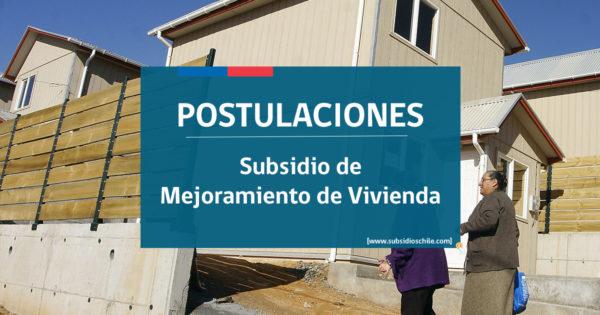 Subsidio de Mejoramiento de Vivienda