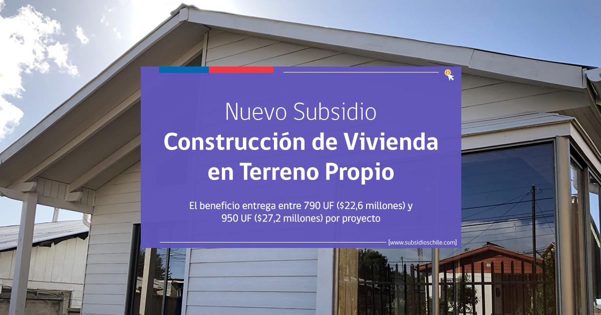 Subsidio Construir Vivienda en sitio propio