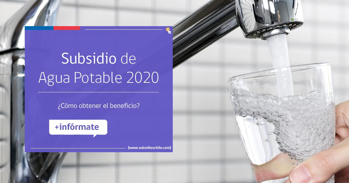 subsidio de agua 2020 chile
