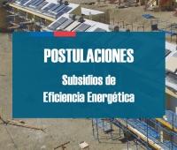 Mejora tu vivienda postulando a los Subsidios de Eficiencia Energética