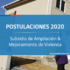 Subsidio de ampliación y mejoramiento de Vivienda 2020: Requisitos para postular
