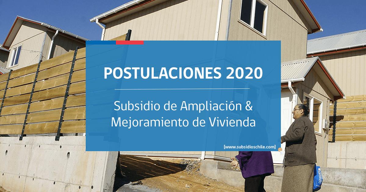Subsidio de Mejoramiento 2020 Minvu