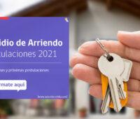 Subsidio Arriendo 2021: Revisa los requisitos y fechas de los próximos llamados